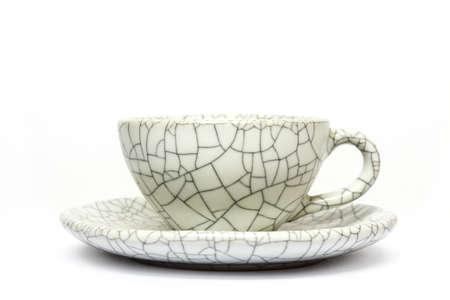 coffee mug with reflect isolated on white background Stock Photo - 25121463