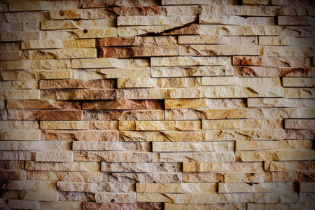 vignetted: red brick wall texture grunge background with vignetted  Stock Photo