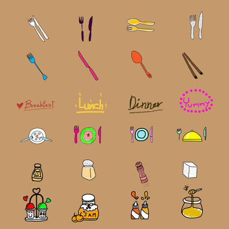 flavoring: funny flavoring icon,handwriting,EPS10 Illustration