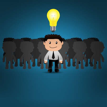 Businessman bright idea Vector