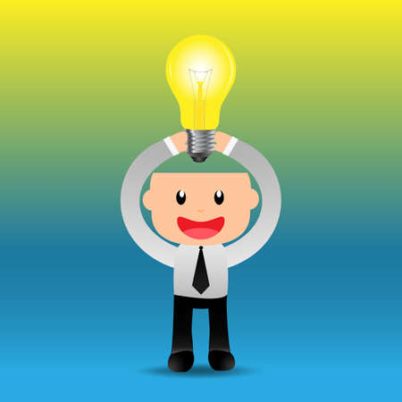 Businessman bright idea to success.EPS10 Vector