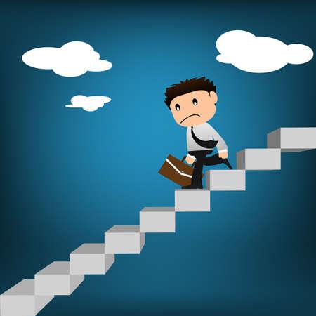 ブリーフケースを階下に歩いての実業家を失敗します。
