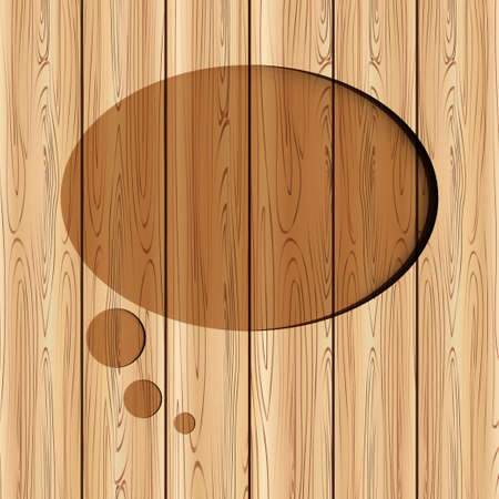 abstract speech bubble on wood background can used for templateweb design. Vector