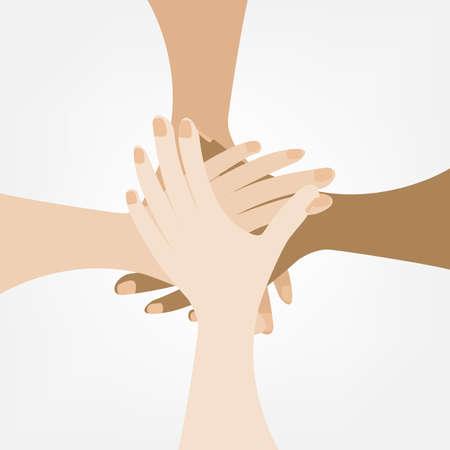 manos unidas: unir las manos