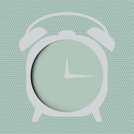 Clock  icon over abstract background.  Vector