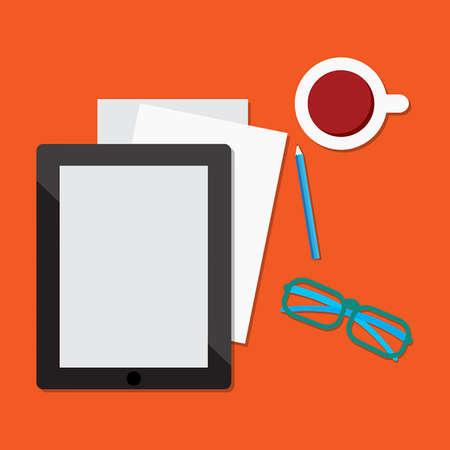 ebook: E-book tablet Illustration