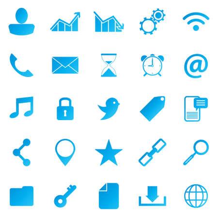 Bright social media icons