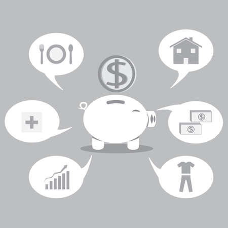 Saving to financial freedom Vector