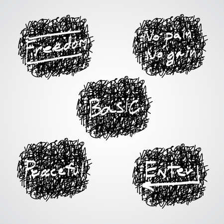 Unsinn: Hand schreiben abstrakten Hintergrund Illustration
