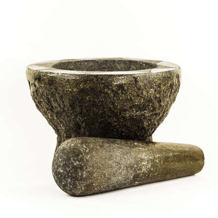 pestel: Mortar and pestle isolated on white background
