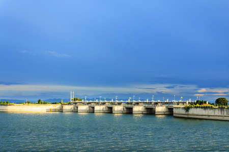 pa: Pa Sak Jolasid Dam in Lopburi,Thailand Stock Photo