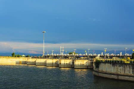 pa: Pa Sak Jolasid Dam in Lopburi,Thailand Stock Photo