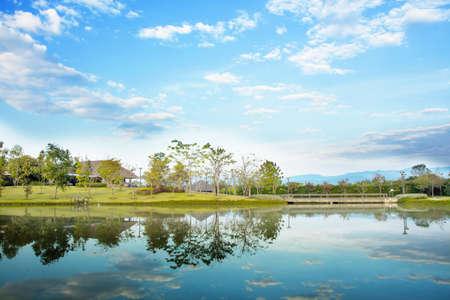 landscape garden: Landscape garden design with lagoon