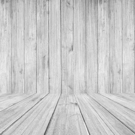 white wood floor: Perspective White wood floor panel background