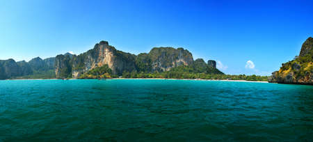 railay: Railay is situated at Krabi province, Thailand. Stock Photo