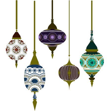 Marokko Lampen ramadan kareem vector kunst