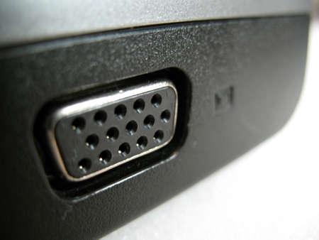 A close up of a plugin on a laptop