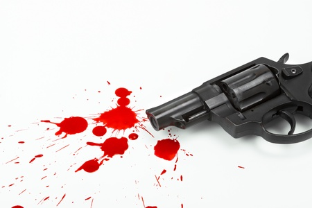 gun and blood  photo