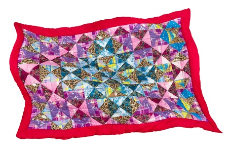 patchwork quilt, isolated photo
