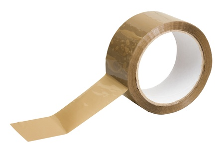 packing tape: adhesive tape on white