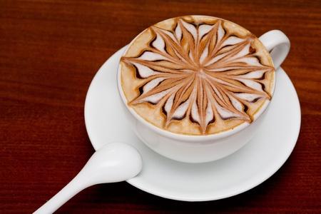 cappuccino, barista coffee cup Stock Photo