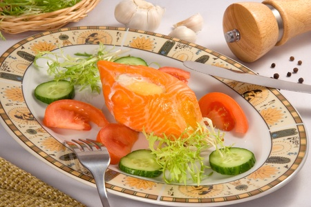 dish of salmon Stock Photo - 12437864