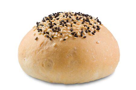 bap: bun with sesame Stock Photo