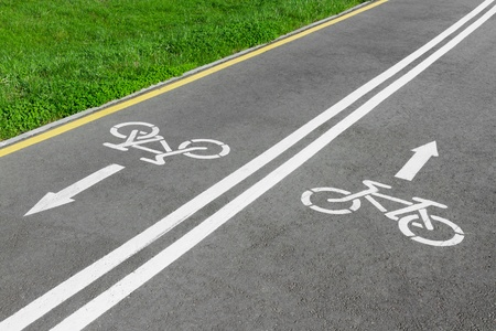 bike lane, road for bicycles Stock Photo - 13488702