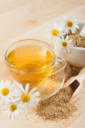 herbal tea with chamomile photo