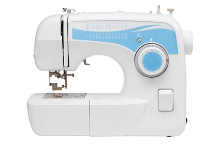 sartorial: sewing machine, isolated on white Stock Photo
