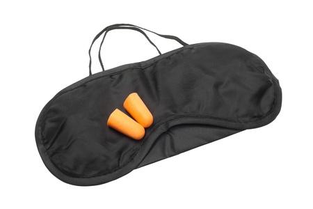 Sleeping mask and earplugs Stock Photo - 16562870