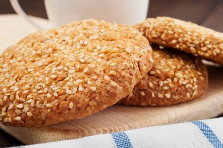 cookies with sesame seeds photo