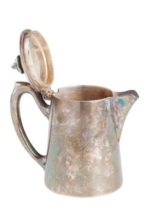 retro teapot or coffee pot, jug isolated on white background Stock Photo - 17471693