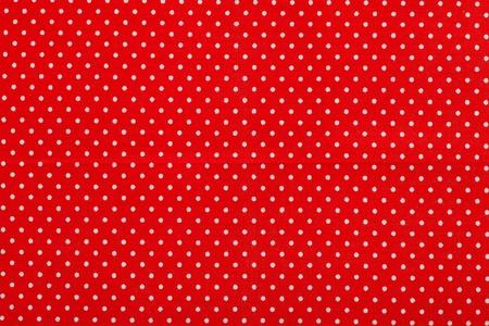 polka dot fabric: rosso polka dot modello in tessuto