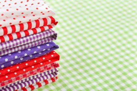 colorful fabrics photo