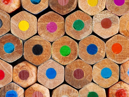 Color pencils background closeup Stock Photo - 17707283