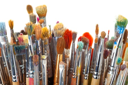 art brushes on white Stock Photo - 17707286