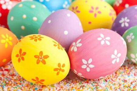 huevos de pascua: huevos de Pascua de cerca Foto de archivo