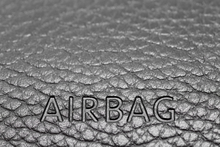 airbag sign on a dashboard photo