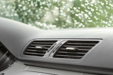 feltételek: légkondicionáló és szellőztető rendszer autó Stock fotó