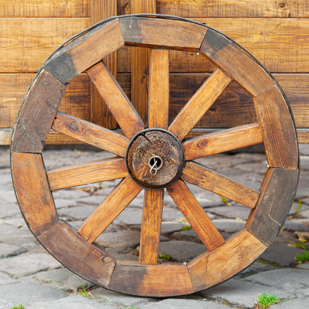 waggon: wooden cart  wheel
