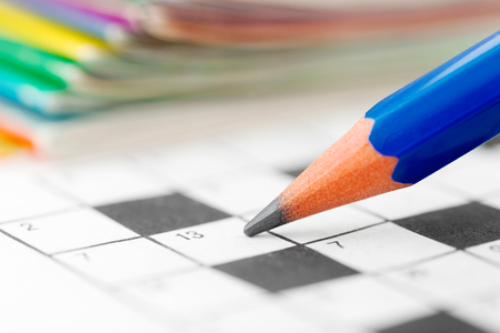 word game: Crossword Puzzle and Pencil