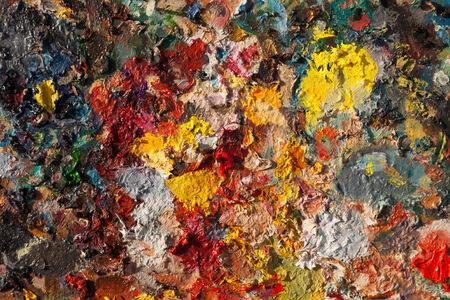 pallette: peinture à l'huile Artistes palette fond Banque d'images