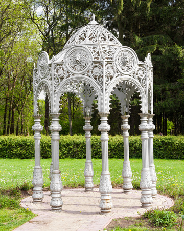 Gazebo in summer garden, oriental style photo