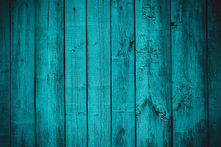 woody: vintage stylized old blue planked wood board