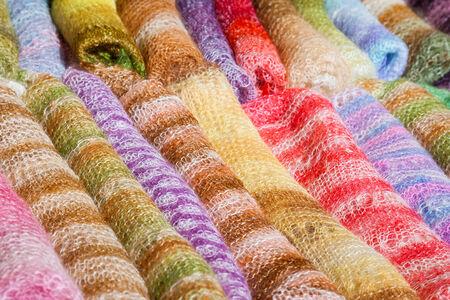 checkered scarf: woolen colorful gentle folded shawls (scarfs)