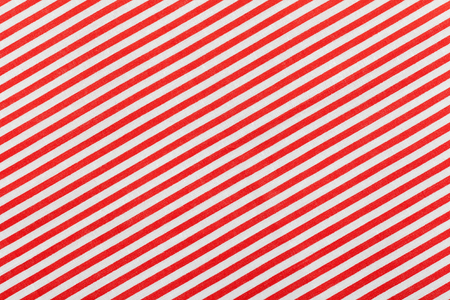 diagonal: Red and white diagonal fabric striped pattern Stock Photo