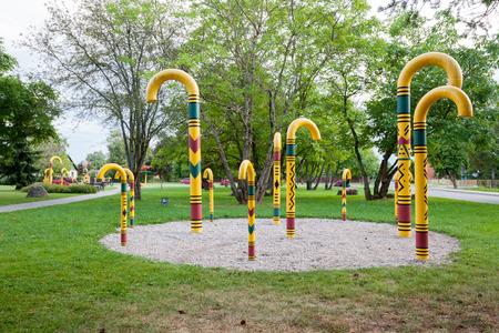 aide: Park of walking stick. Sigulda, Latvia