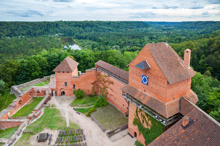 sigulda: Latvian attraction - old Turaida castle. Sigulda, Latvia.