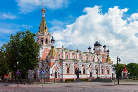 intercession: Holy intercession Cathedral in Grodno, Belarus. Stock Photo